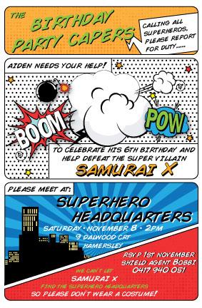 Superhero-Invite